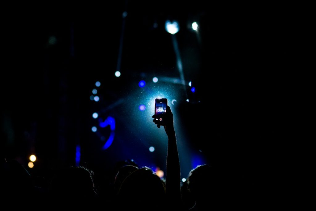 cellphone recording the concert